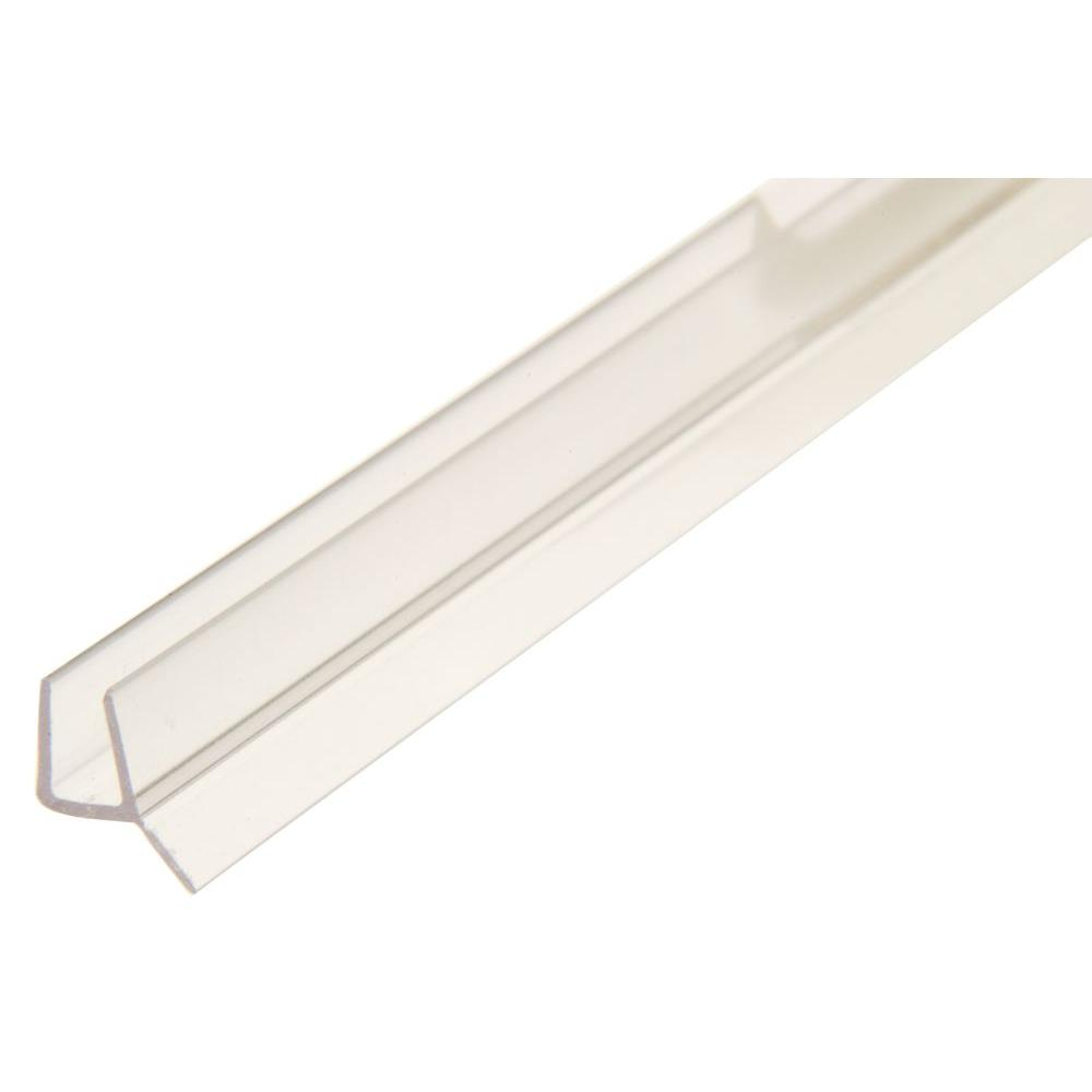 L Frameless Shower Door Seal With Wipe For 1/2 In.