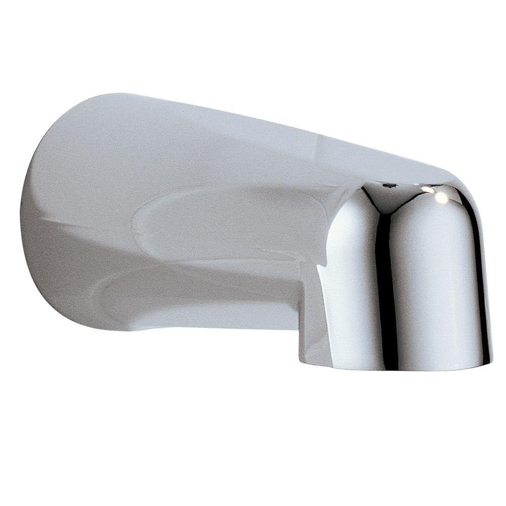 Delta Grail 5-1/2 in. Metal Non-Diverter Tub Spout in Chrome