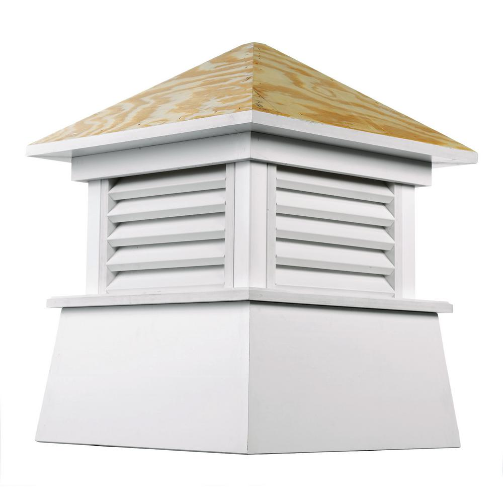Good Directions Kent 18 in. x 22 in. Vinyl Cupola with Wood Roof