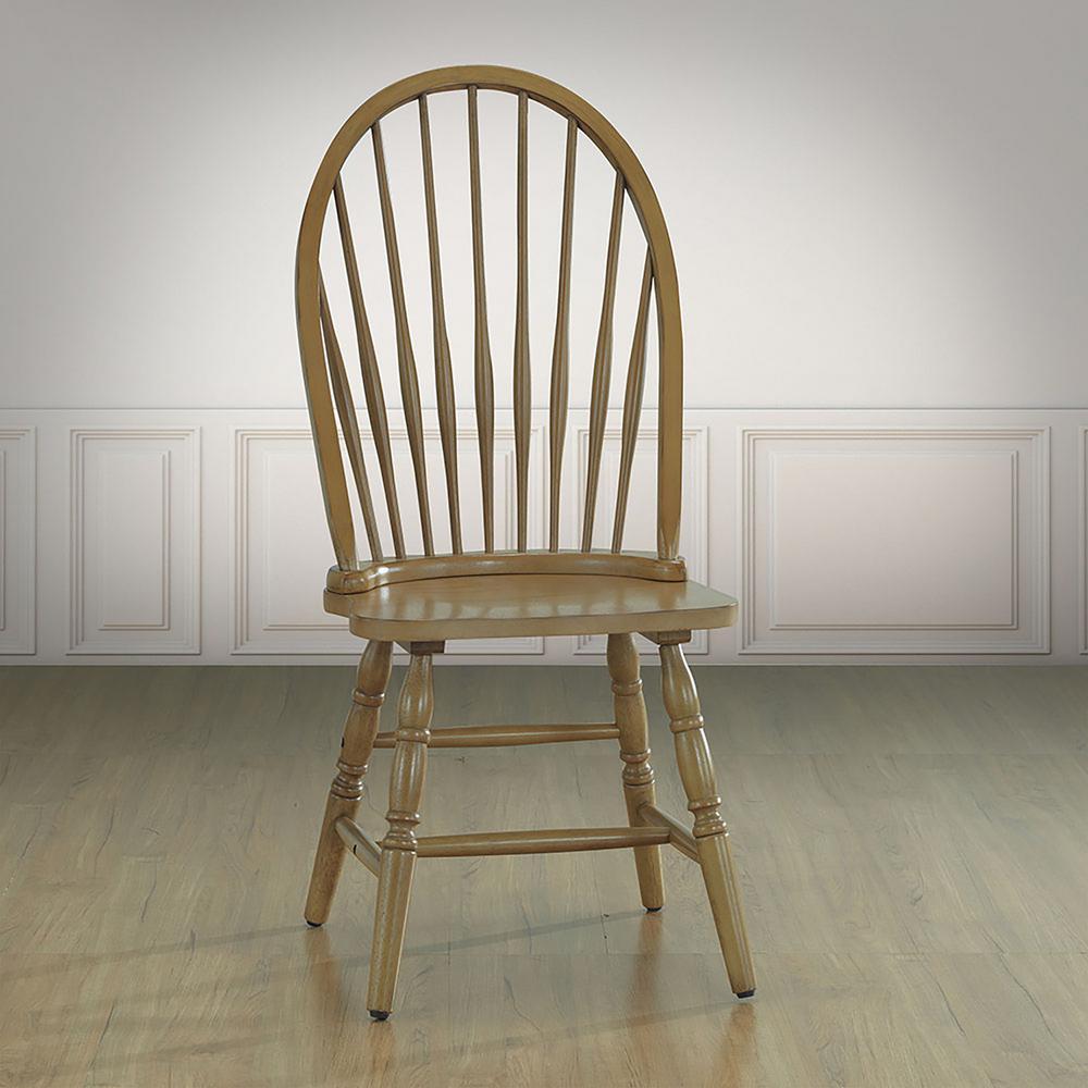 Oak Wood Chairs ~ Carolina cottage harvest oak wood windsor dining chair