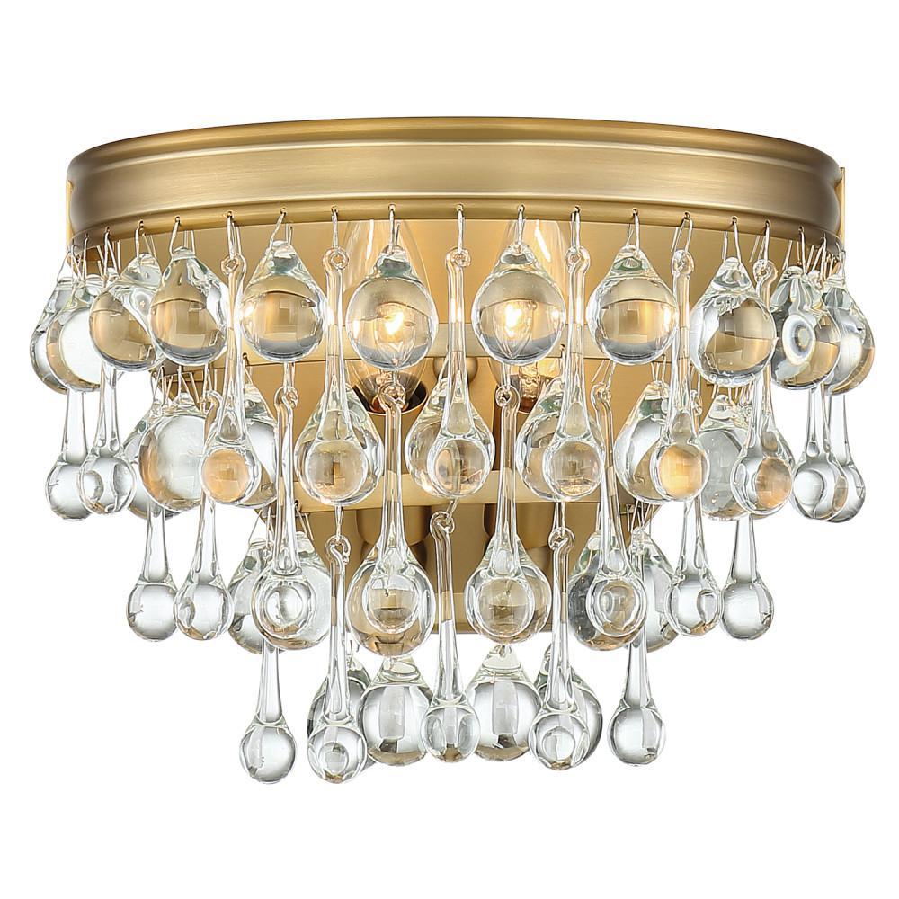 Calypso 2-Light Vibrant Gold Sconce