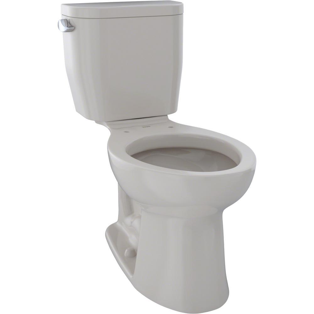TOTO Entrada 2-Piece 1.28 GPF Single Flush Elongated Toilet in Sedona Beige