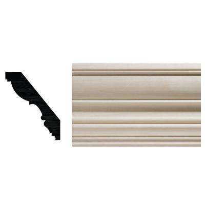 7/8 in. x 4-1/2 in. White Hardwood Colonial Crown Moulding