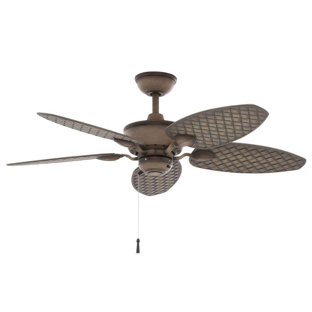 Hampton Bay Largo 48 in. Indoor/Outdoor Gilded Iron Ceiling Fan ...