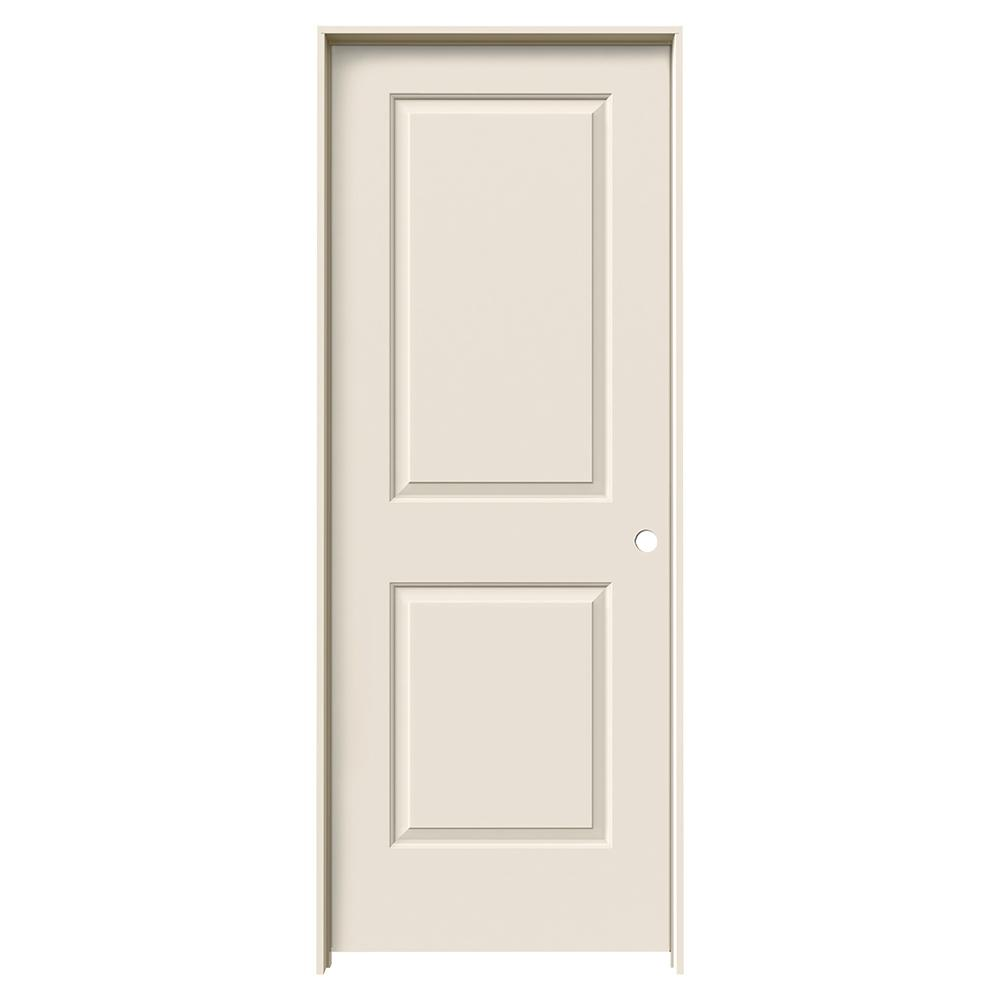 28 in. x 80 in. Cambridge Primed Left-Hand Smooth Solid Core