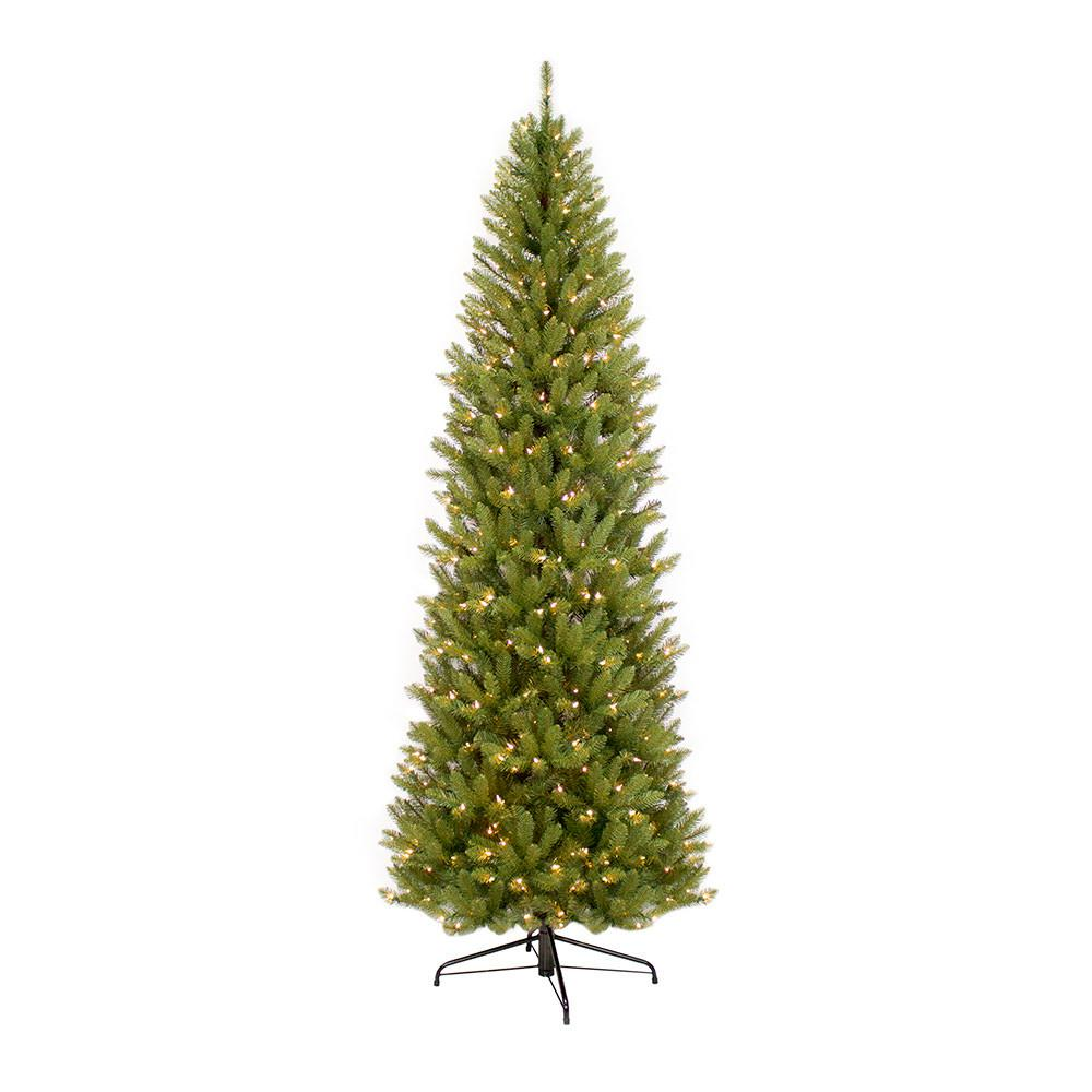 Puleo International 6.5 ft. Pre-Lit Incandescent Fraser Fir Pencil Artificial Christmas Tree with 250 UL Clear Lights