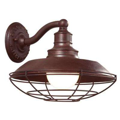 Circa 1910 Old Rust Outdoor Wall Mount Sconce