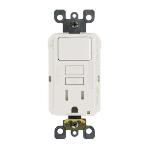 white leviton electrical outlets receptacles gfsw1 0kw 64_300 leviton 15 amp 125 volt combo self test tamper resistant gfci outlet