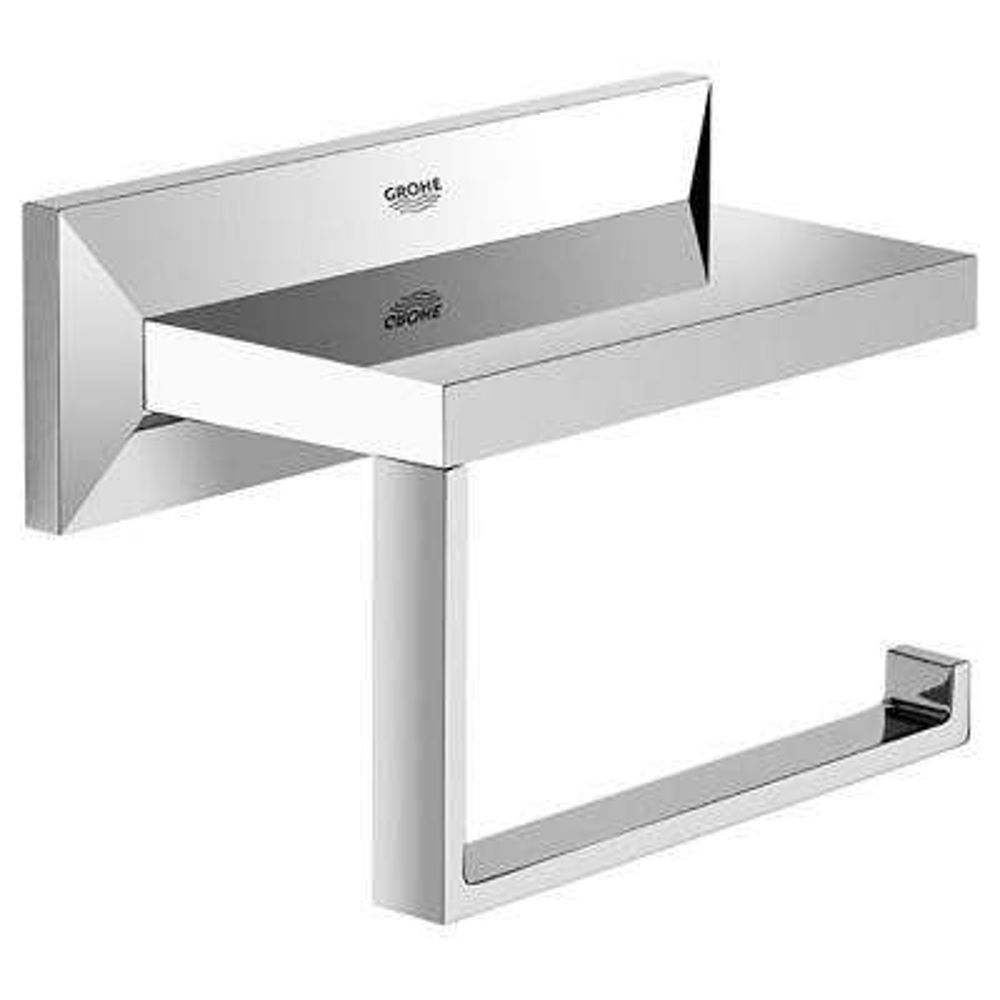Allure Brilliant Single Post Toilet Paper Holder in StarLight Chrome