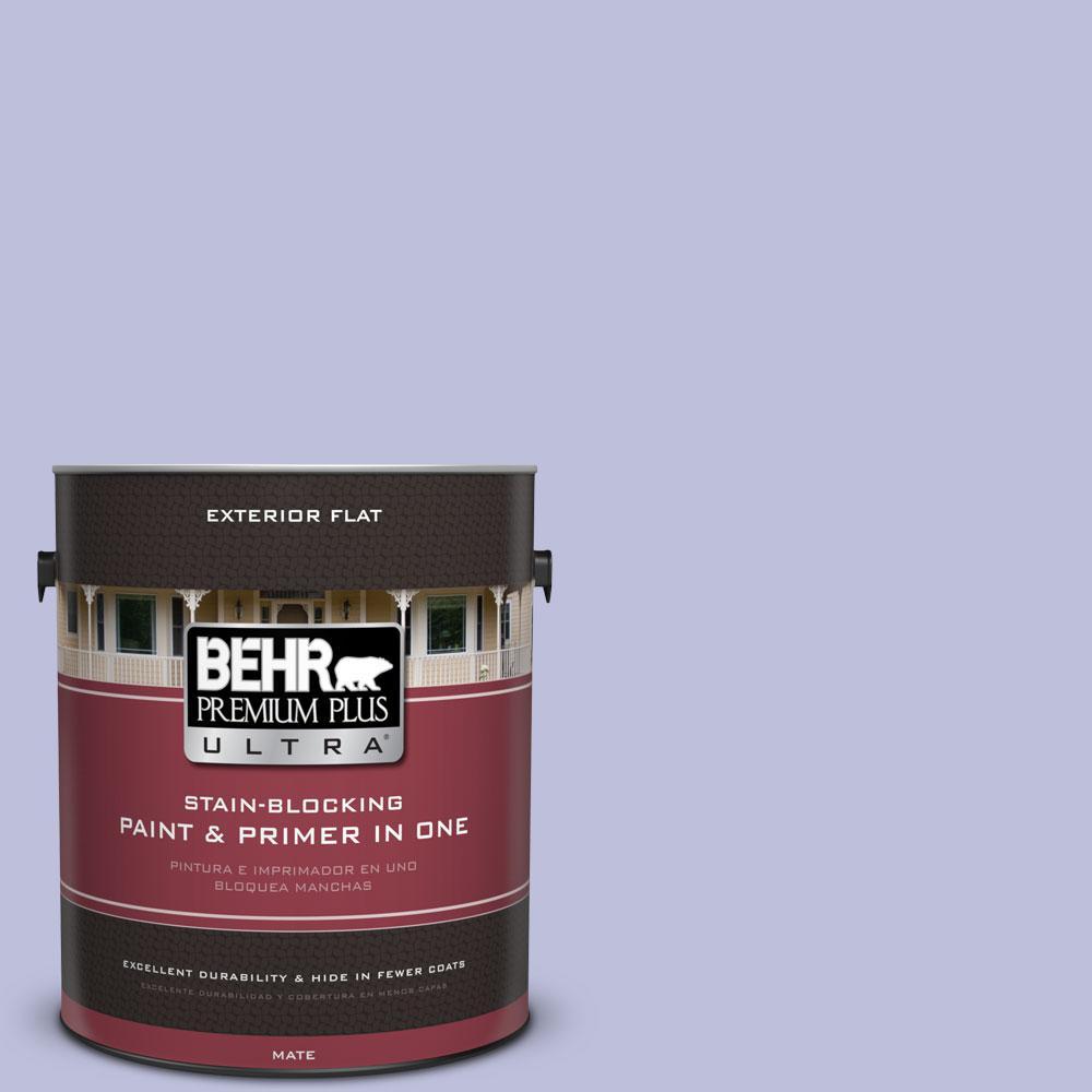 BEHR Premium Plus Ultra 1-gal. #610A-3 Lavender Sachet Flat Exterior Paint