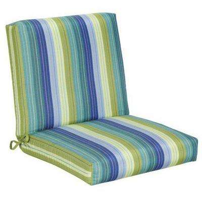 Exceptional Sunbrella Seaside Seville Outdoor Dining Chair Cushion