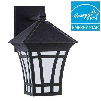Herrington 1-Light Black Outdoor Wall Mount Lantern