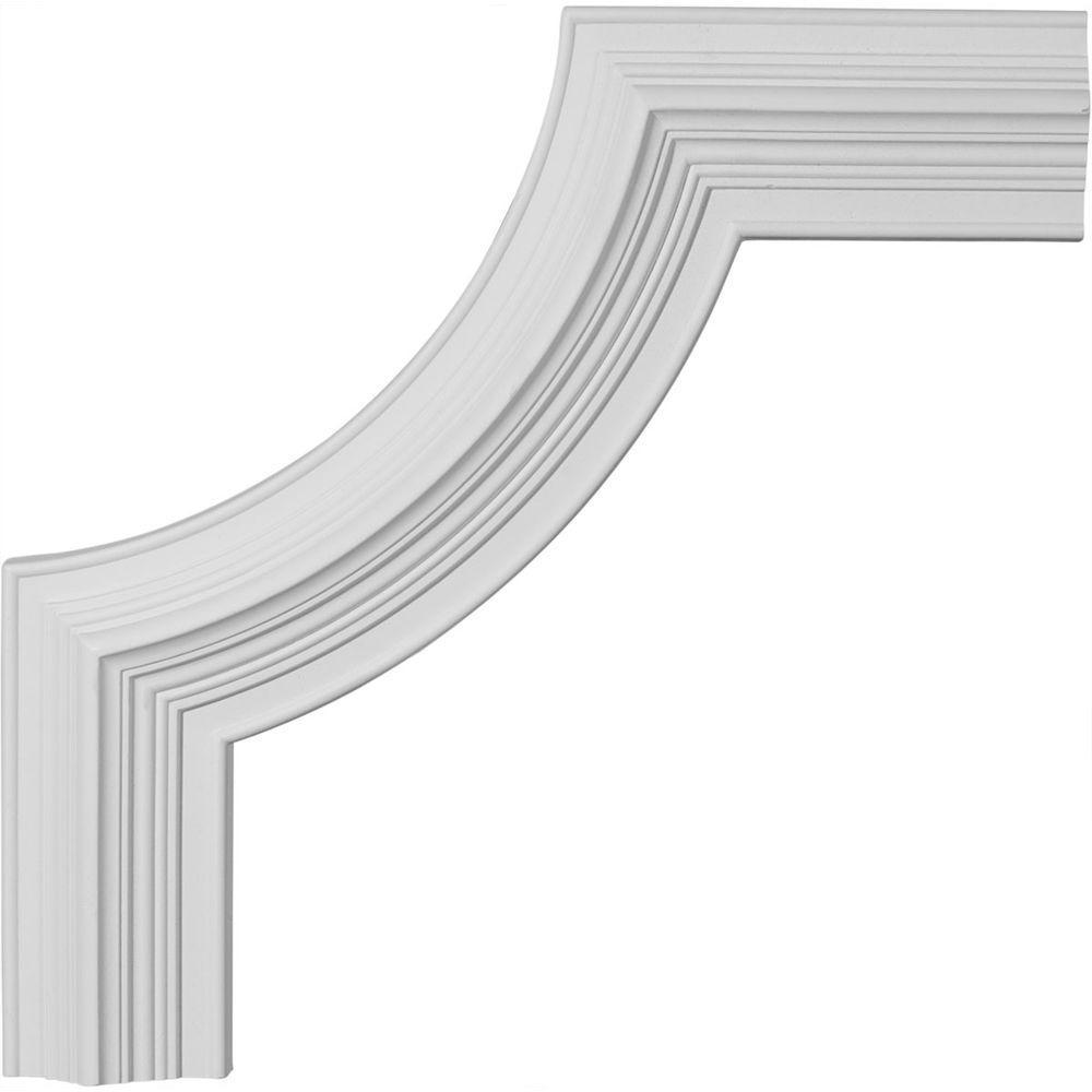Ekena Millwork 3/4 in. x 14-3/8 in. x 14-3/8 in. Urethane Edinburgh Panel Moulding Corner (Matches Moulding PML03X01ED)