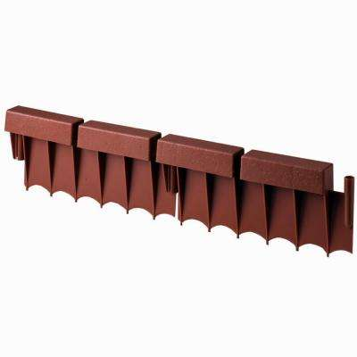 Brick 10 ft. (12 in. Sections) Resin Border Edging