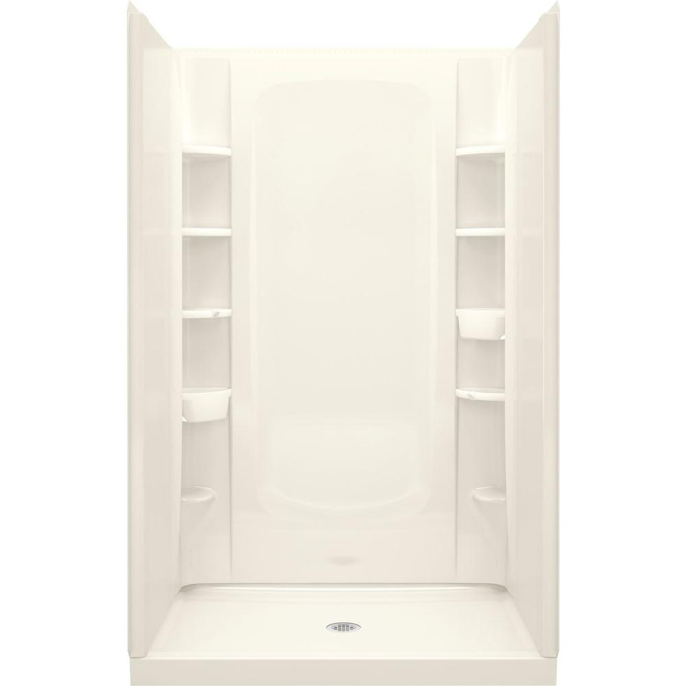 STERLING 34 in. x 48 in. x 72-1/2 in. 4-Piece Shower Stall in ...