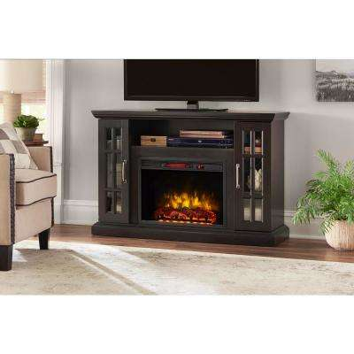 Edenfield 48 in. Freestanding Infrared Electric Fireplace TV Stand in Espresso