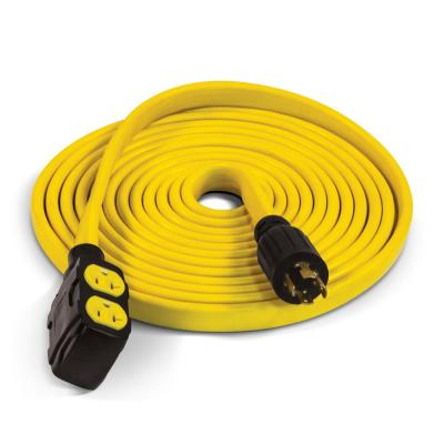 25 ft. 30 Amp 125/250-Volt Duplex-Style Flat Generator Extension Cord