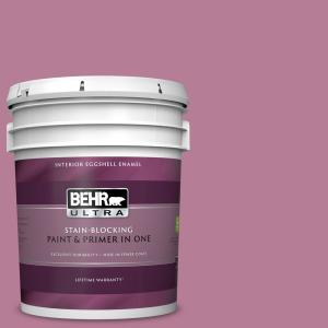 Behr Ultra 5 Gal M130 5 Cabaret Eggshell Enamel Interior Paint And Primer In One 275405 The Home Depot