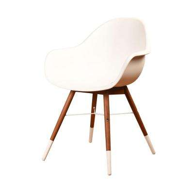 Chamonix Mid Century White Patio Dining Chairs (Set of 4)