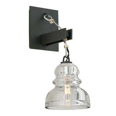 Menlo Park 1-Light Deep Bronze Wall Sconce