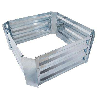 23.5 in. x 23.5 in. Silver Raised Garden Bed