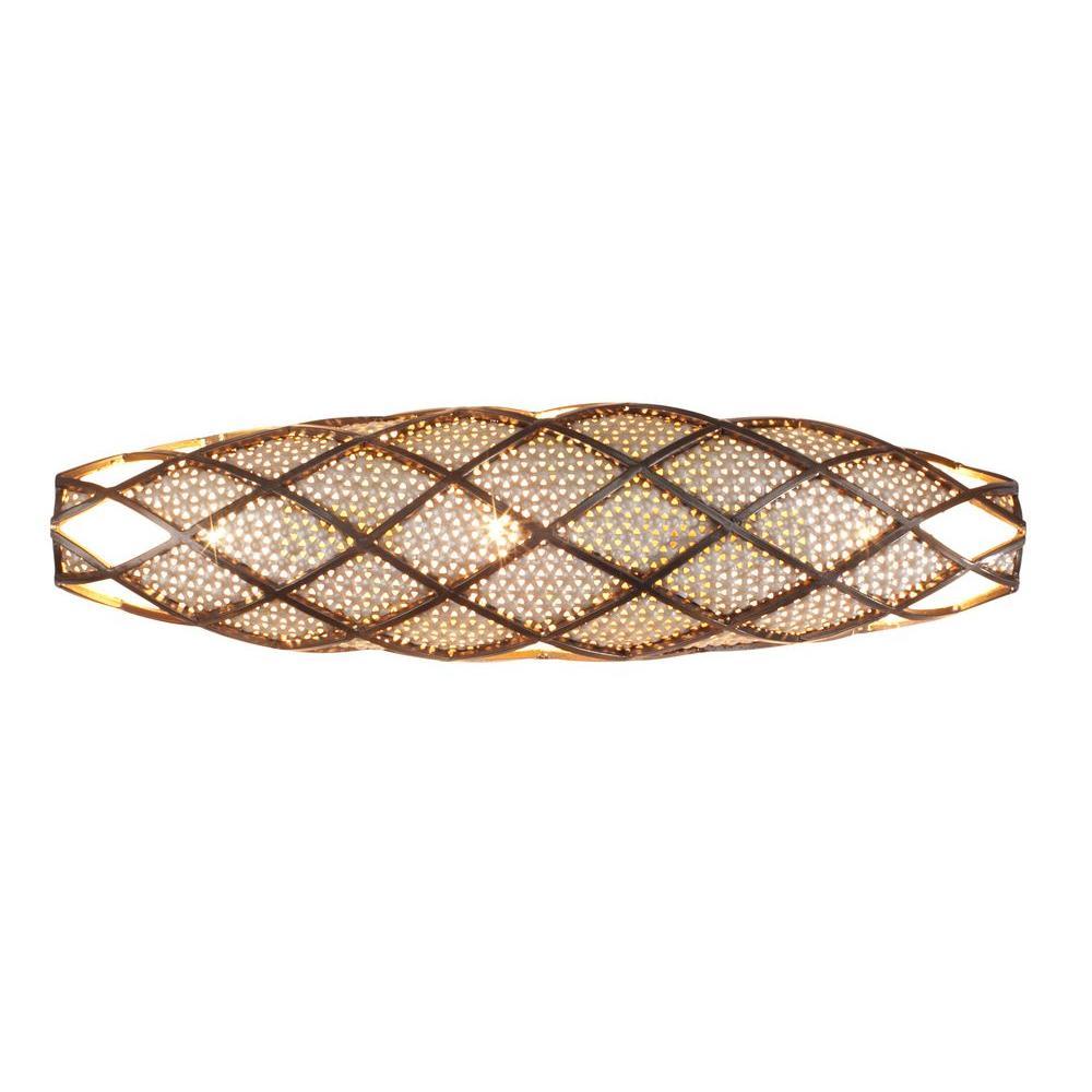 Argyle 3-Light New Bronze and Desert Pearl Bath Vanity Light