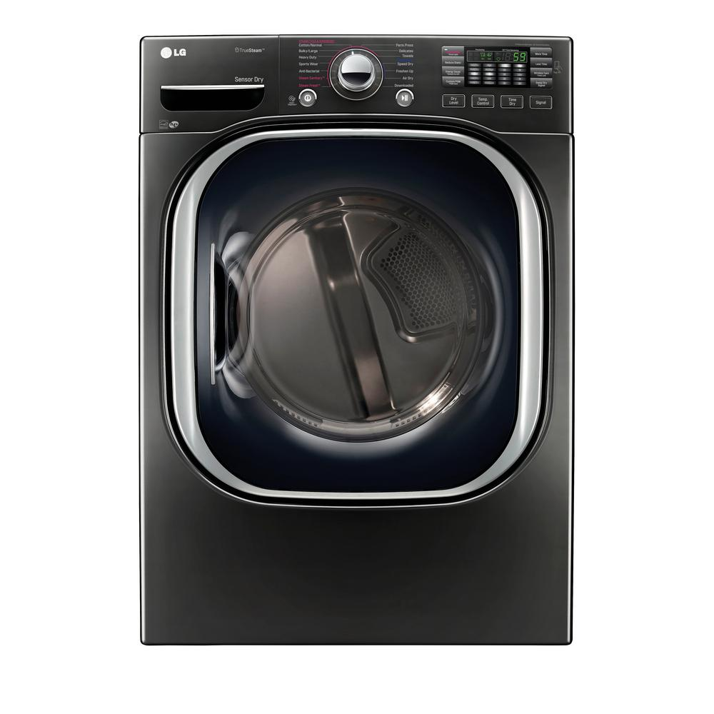 7.4 cu. ft. Electric Dryer with Steam in Black Stainless Steel