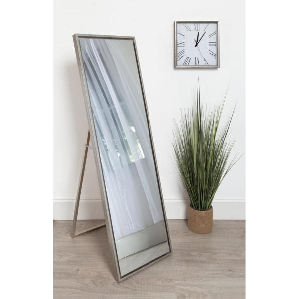 Kate And Laurel Evans Rectangle Silver Leaning Mirror 212891 The