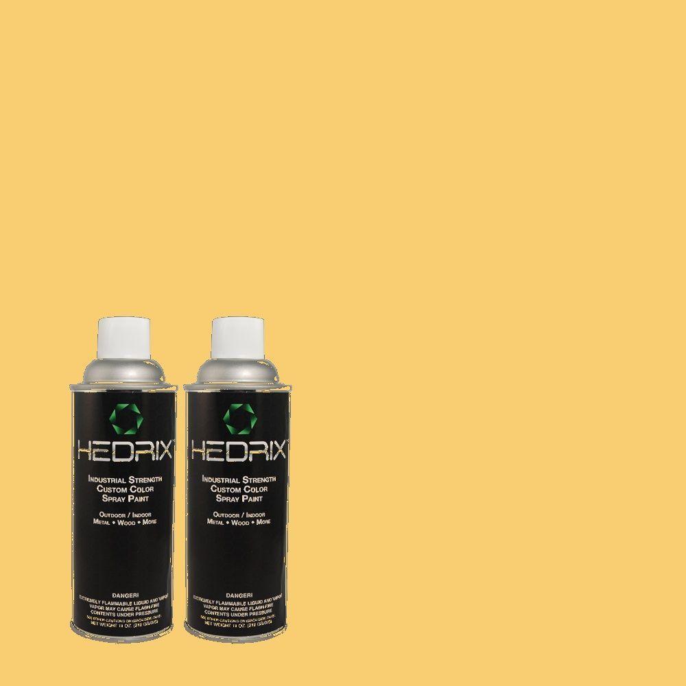 Hedrix 11 oz. Match of 1A8-5 King's Gold Flat Custom Spray Paint (2-Pack)