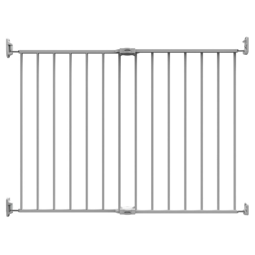 29 in. H Extending Metal Baby Gate with Locking Indicator, White