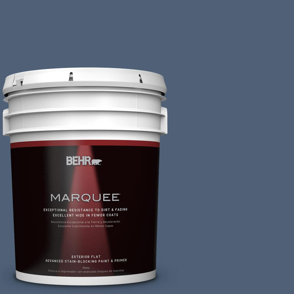 BEHR MARQUEE 5-gal. #BIC-52 Loyalty Flat Exterior Paint
