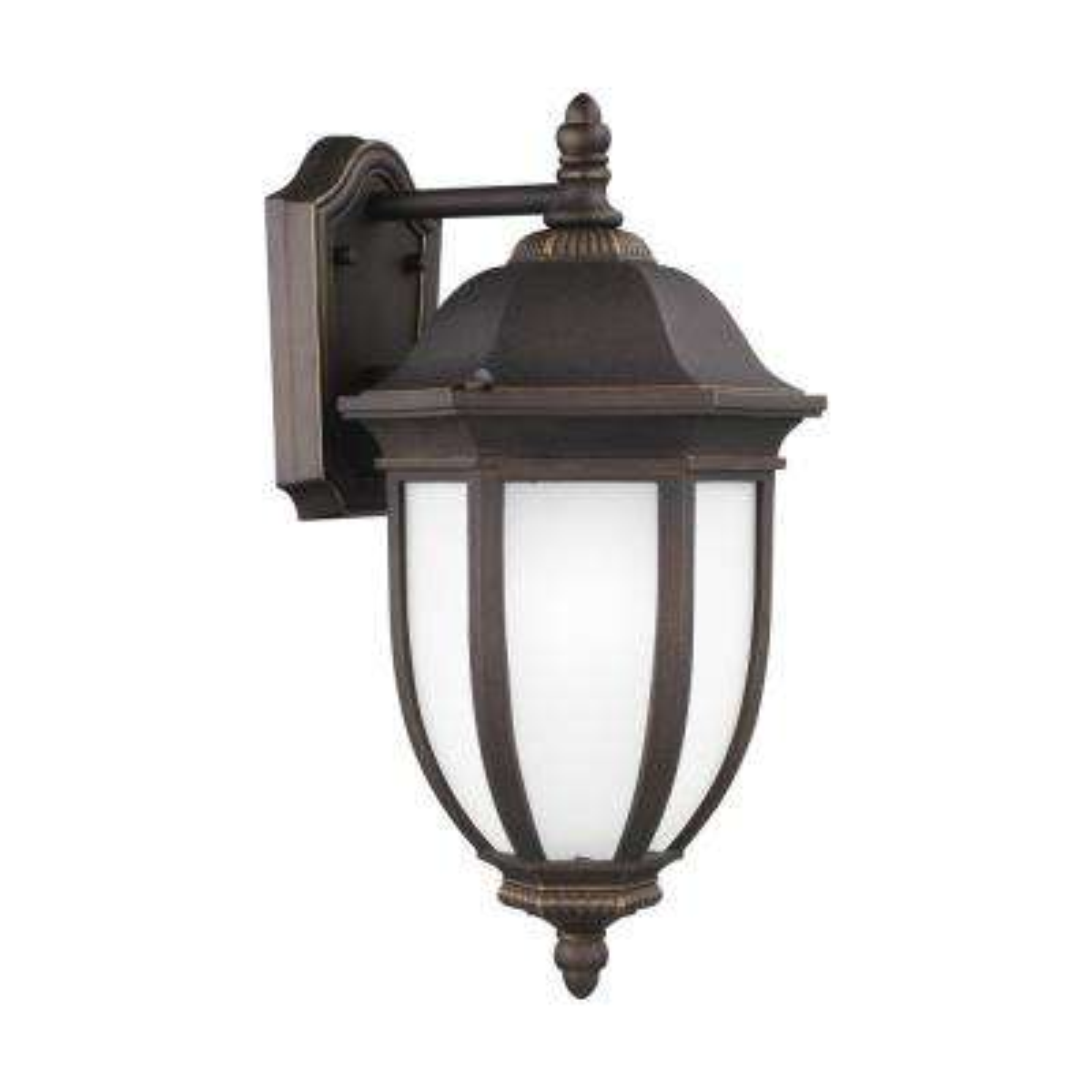 Galvyn 1-Light Medium Antique Bronze Outdoor 18.75 in. Wall Mount Lantern