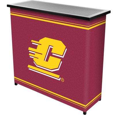 Central Michigan University 2-Shelf Black Bar with Case