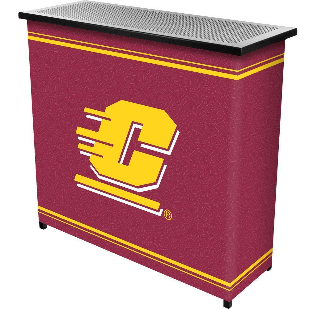 Central Michigan University 2-Shelf Black Bar with Case