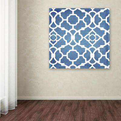 """24 in. x 24 in. """"Moroccan Blues III"""" by Color Bakery Printed Canvas Wall Art"""