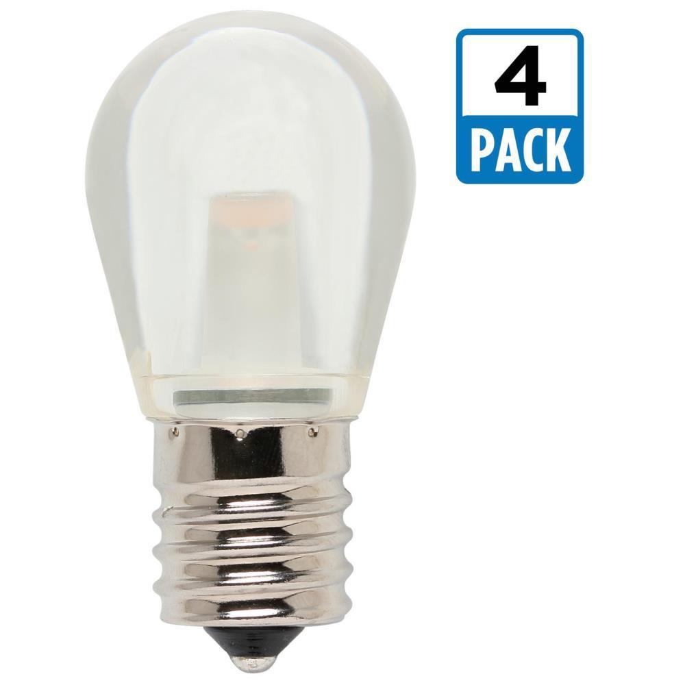 10W Equivalent Soft White S11 LED Light Bulb (4-Pack)