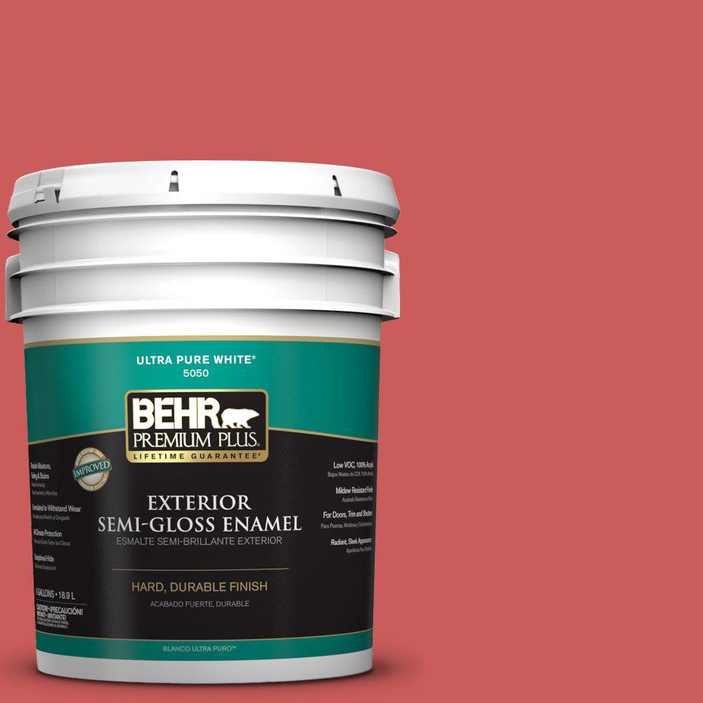 BEHR Premium Plus 5-gal. #P160-5 Pinkadelic Semi-Gloss Enamel Exterior Paint
