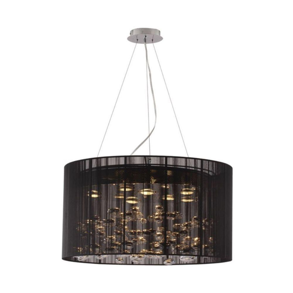 Symmetry 8-Light Black Ceiling Pendant
