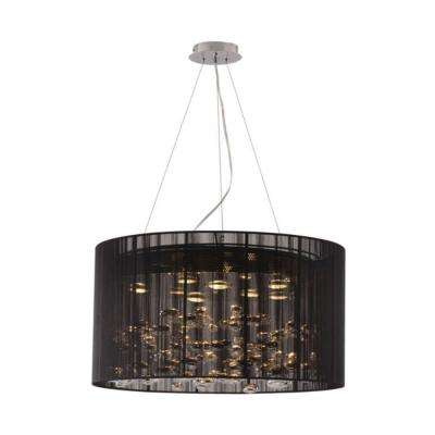Symmetry 8-Light Black Ceiling Pendant