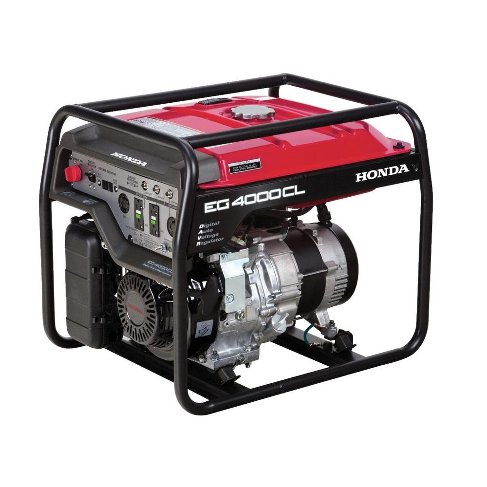 Honda 4000-Watt Gasoline Powered Portable Generator with GFCI Duplex Outlet  Protection and GX270 OHV
