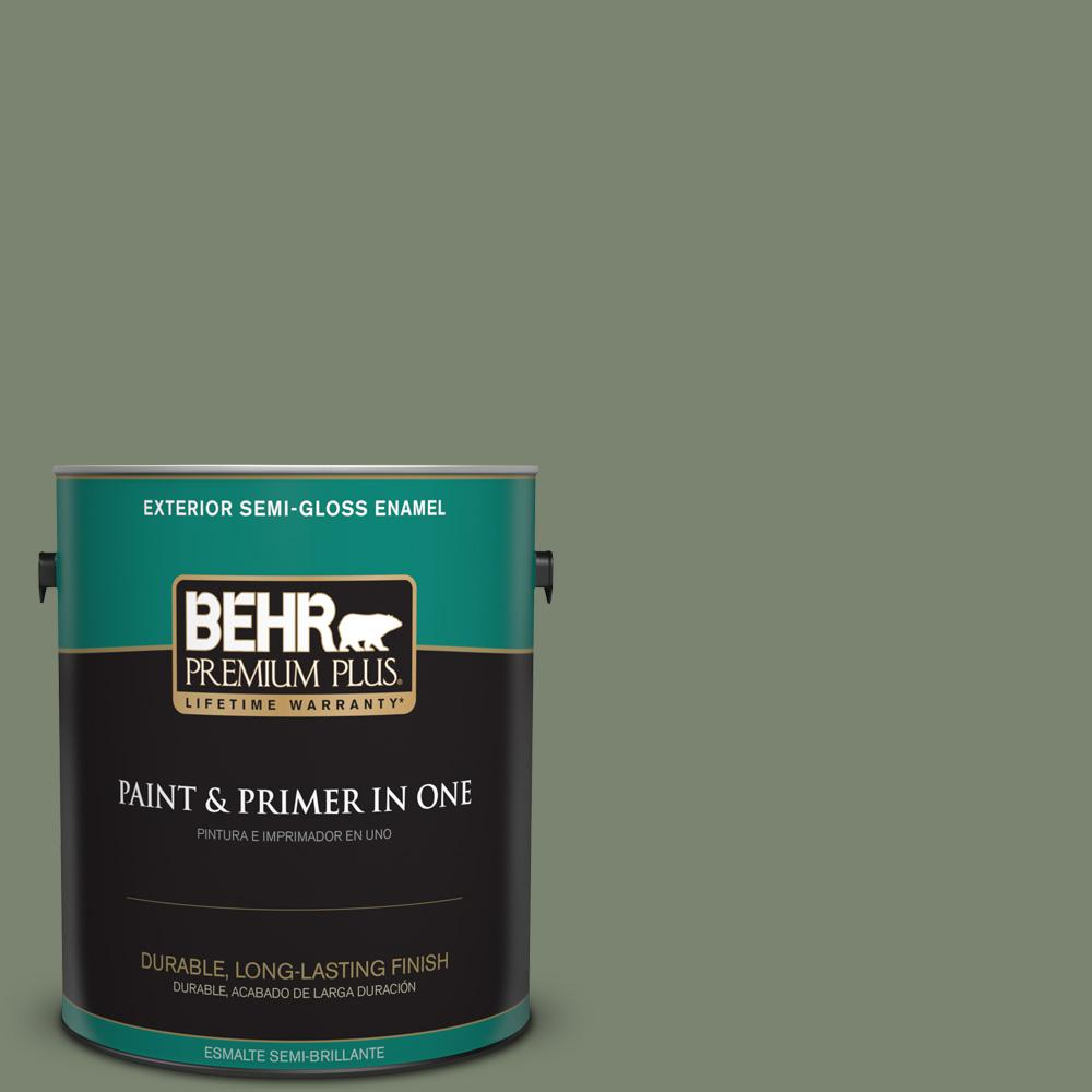 1 gal. #PPU11-18 Cactus Garden Semi-Gloss Enamel Exterior Paint