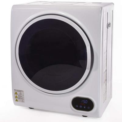1.85 cu ft. Portable Stainless Steel Automatic Laundry Tumble Dryer Machine with 3 Drying Modes and Timer in White