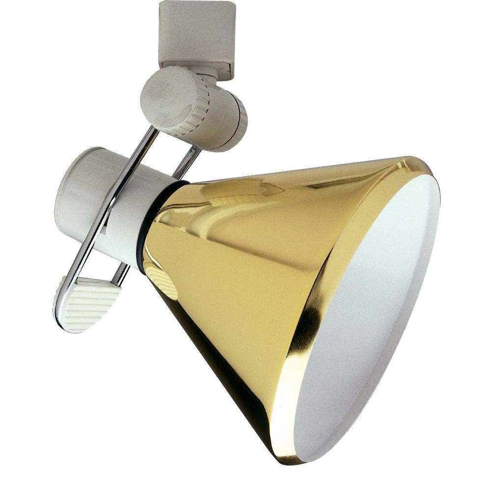 Polished Brass Track Light Shade