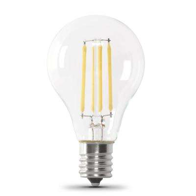 75-Watt Equivalent A15 Intermediate-Base Dimmable Filament LED Clear Glass Light Bulb in Soft White (24-Pack)