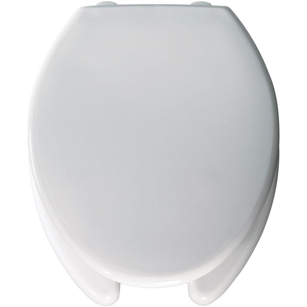 Bemis Medic-Aid Elongated Open Front Toilet Seat in White