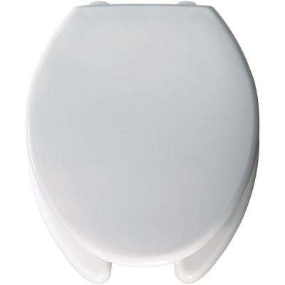 Medic-Aid Elongated Open Front Toilet Seat in White