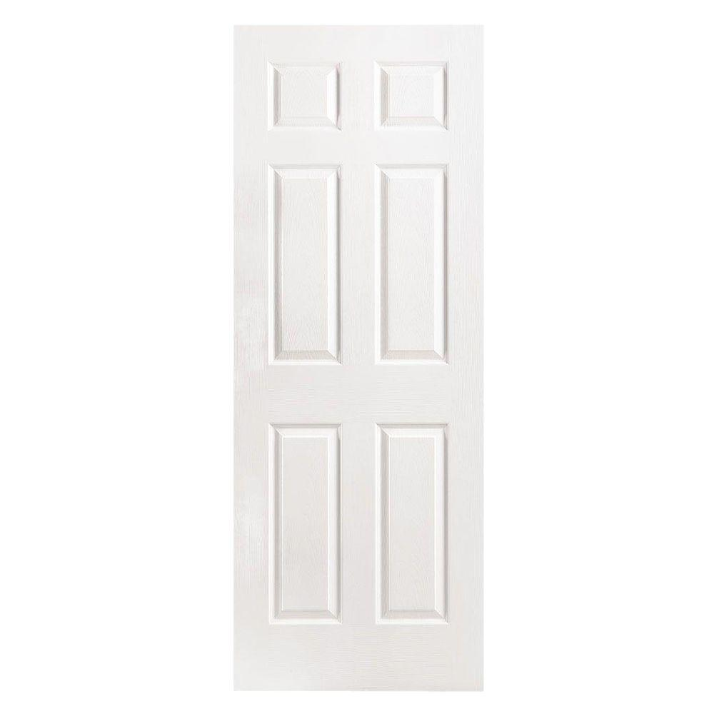 6 Panel Left Handed Hollow Core Textured Primed Composite Single Prehung  Interior Door 32421   The Home Depot