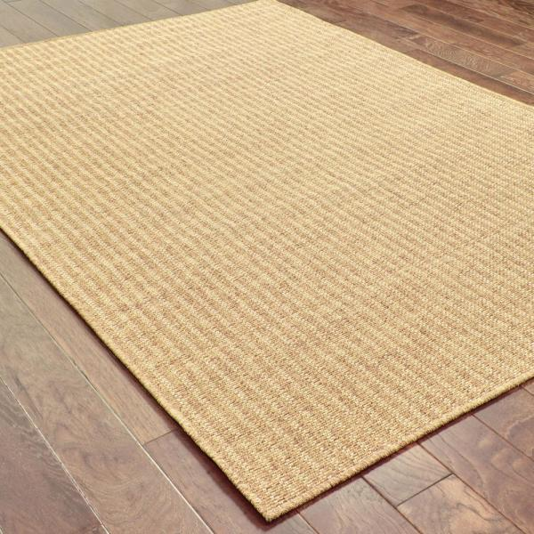 Reviews For Caicos Woven Stripe Tan Light Tan 6 Ft 7 In X 9 Ft 6 In Indoor Outdoor Area Rug 819930 The Home Depot