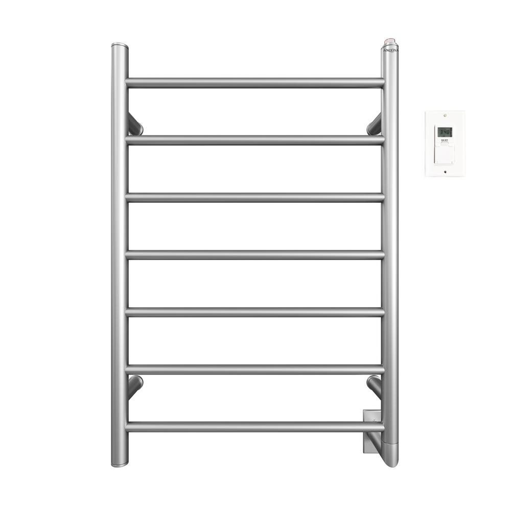 Comfort 7-31 in. Hardwired Electric Towel Warmer and Drying Rack in
