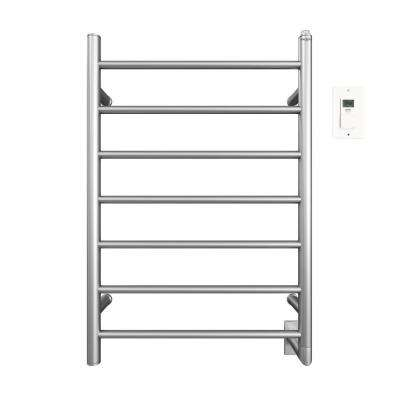 Comfort 7-31 in. Hardwired Electric Towel Warmer and Drying Rack in Brushed Stainless Steel with Timer